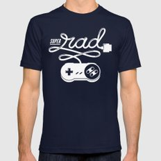 Super Rad Navy Mens Fitted Tee SMALL