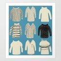 sweaters Art Print