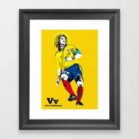 V Is For Valderrama Framed Art Print