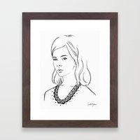 Demoiselle Framed Art Print