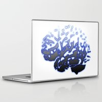 brain Laptop & iPad Skins featuring Brain by Temi Alli