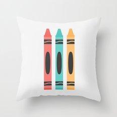 #94 Crayon Throw Pillow