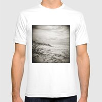 { Sand, Surf, Sun } Mens Fitted Tee White SMALL