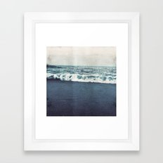 retro ocean Framed Art Print