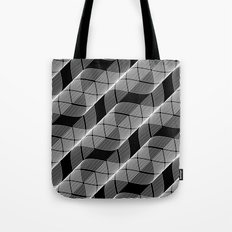 Black White Helix Tote Bag