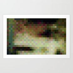 ABSTRACT PIXELS #0011 Art Print