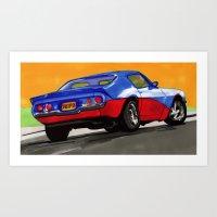 Fast & Furious Art Print