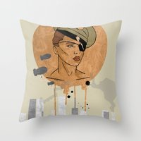 The Steam Captain  Throw Pillow