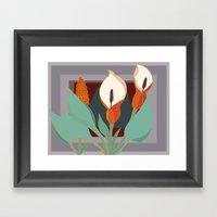 Arum Lilies III. Framed Art Print