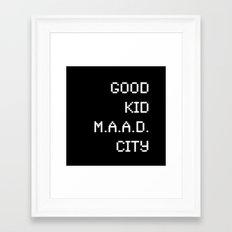 good kid m.AA.d city Framed Art Print