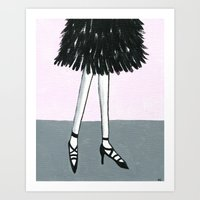 Put on your dancing shoes Art Print