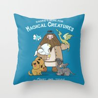 Hagrid's Home for Magical Creatures Throw Pillow