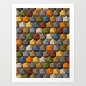 icosahedron multicolor Art Print