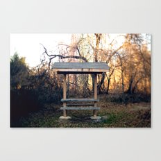 Covered Table in Brick, NJ Canvas Print