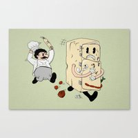 Your Fridge Is Running Canvas Print