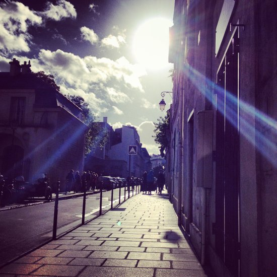 Ray of Sunshine on the Streets of Paris Art Print