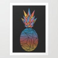 Bakana Rays Pineapple Art Print