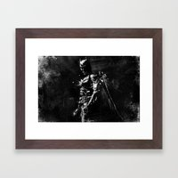 Splash of Darkness. Framed Art Print