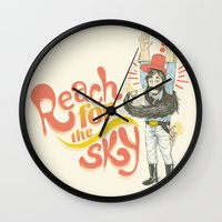 Reach For The Sky Wall Clock