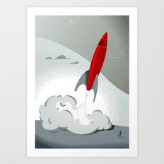 Blast Off (Tommy & The R… Art Print