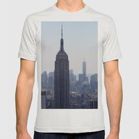 South New York City Mens Fitted Tee Silver SMALL