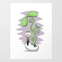 Magic Bean Art Print