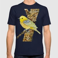 Yellow Warbler Tilly Mens Fitted Tee Navy SMALL