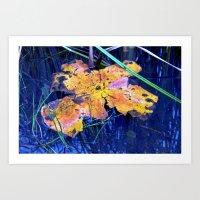 Summer Sky is touching Water Ground Art Print