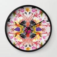 Kaleidoscope Flamingos Wall Clock