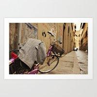Lavender Bicycle - Firenze Art Print