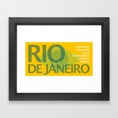 Rio Beach Framed Art Print