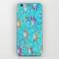 Blue Flowers iPhone & iPod Skin