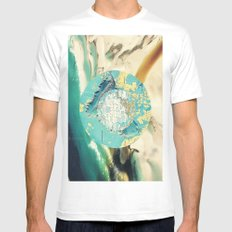 wave Mens Fitted Tee SMALL White