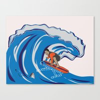 Pressing Waves Canvas Print