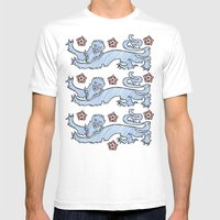 3 Lions Mens Fitted Tee White SMALL
