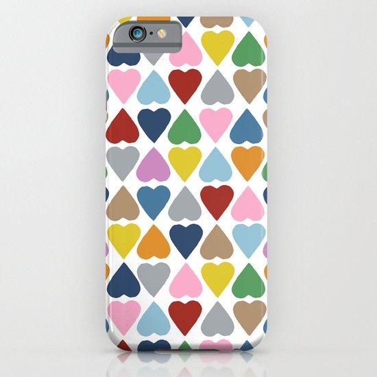 Diamond Hearts Repeat iPhone & iPod Case
