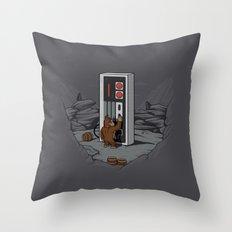 Dawn of gaming Throw Pillow