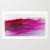 Purple Clouds Red Mounta… Art Print