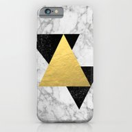 Marble Tri Black & Gold … iPhone 6 Slim Case