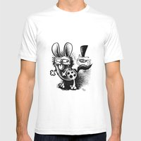 The Hyena And The Spider… Mens Fitted Tee White SMALL