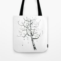 Button Tree Tote Bag