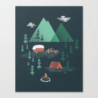 Pitch A Tent Canvas Print