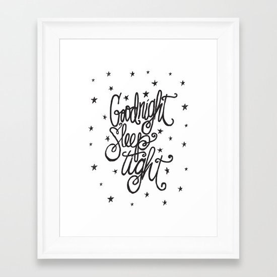 GOODNIGHT SLEEP TIGHT Framed Art Print