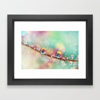Rainbow Smoke Drops Framed Art Print