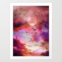 Bird migration  Art Print
