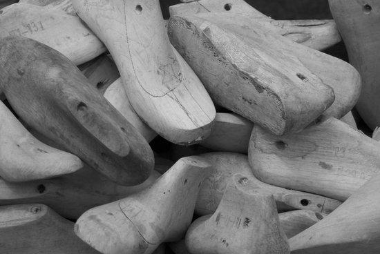 Wooden shoe forms Art Print