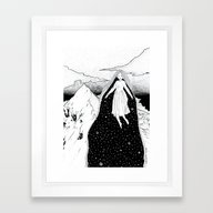 Framed Art Print featuring Mountain High by  Louie