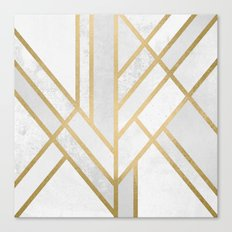 Art Deco Geometry 2 Canvas Print