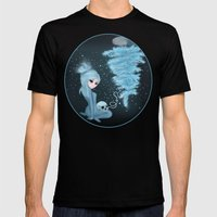 Intercosmic Christmas in Blue Mens Fitted Tee Black SMALL