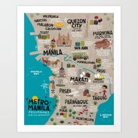Metro Manila, Philippine… Art Print